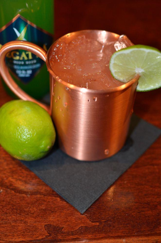 John G. Martin's Moscow Mule: vodka, ginger beer, fresh lime at Bar Divani