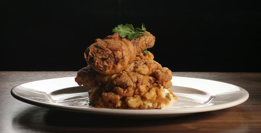 Black Skillet Fried Chicken at 1300 on Fillmore