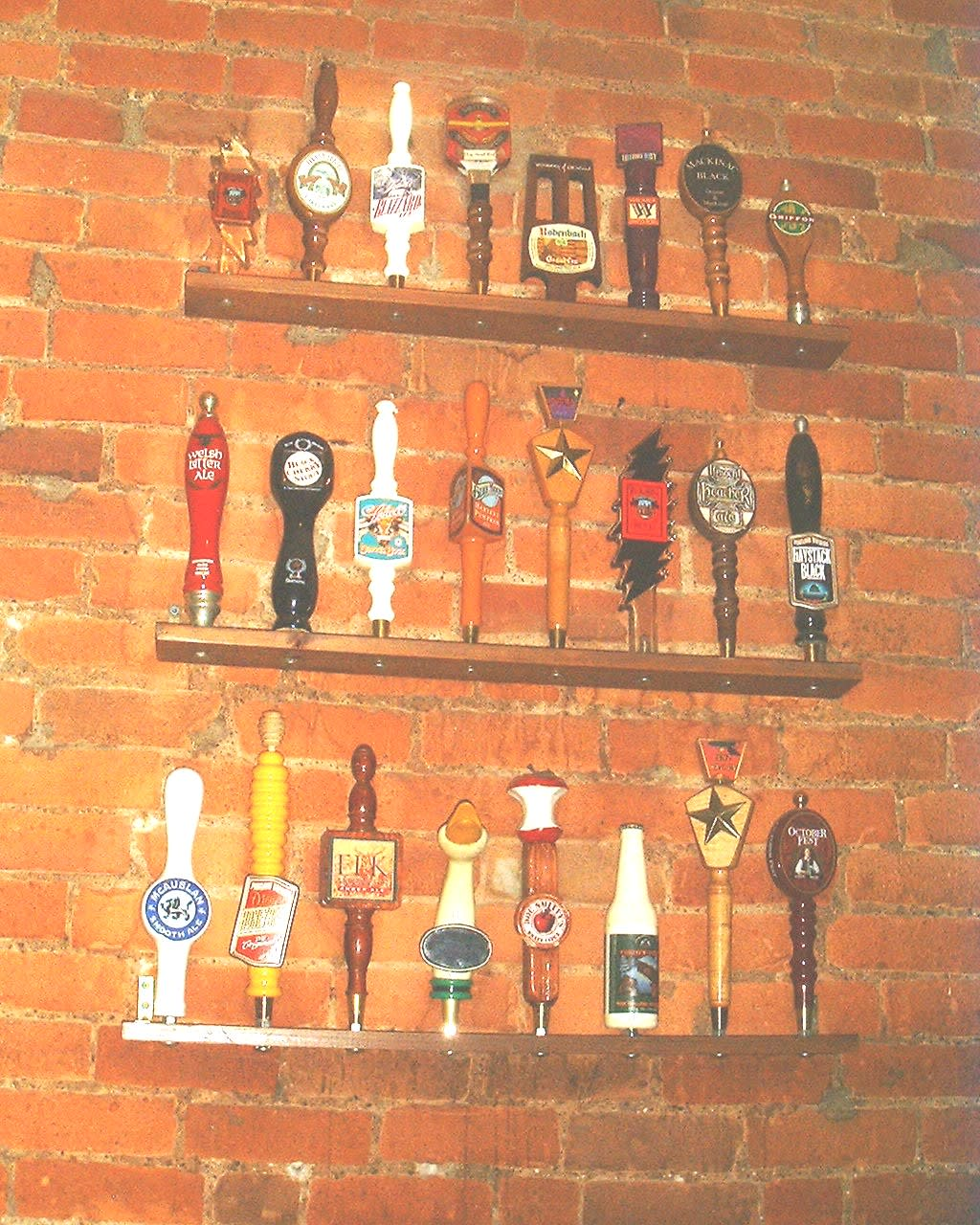 Some of the many past Taps at Ashley's Restaurant