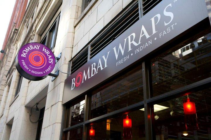 The original location: 122 N Wells St at Bombay Wraps