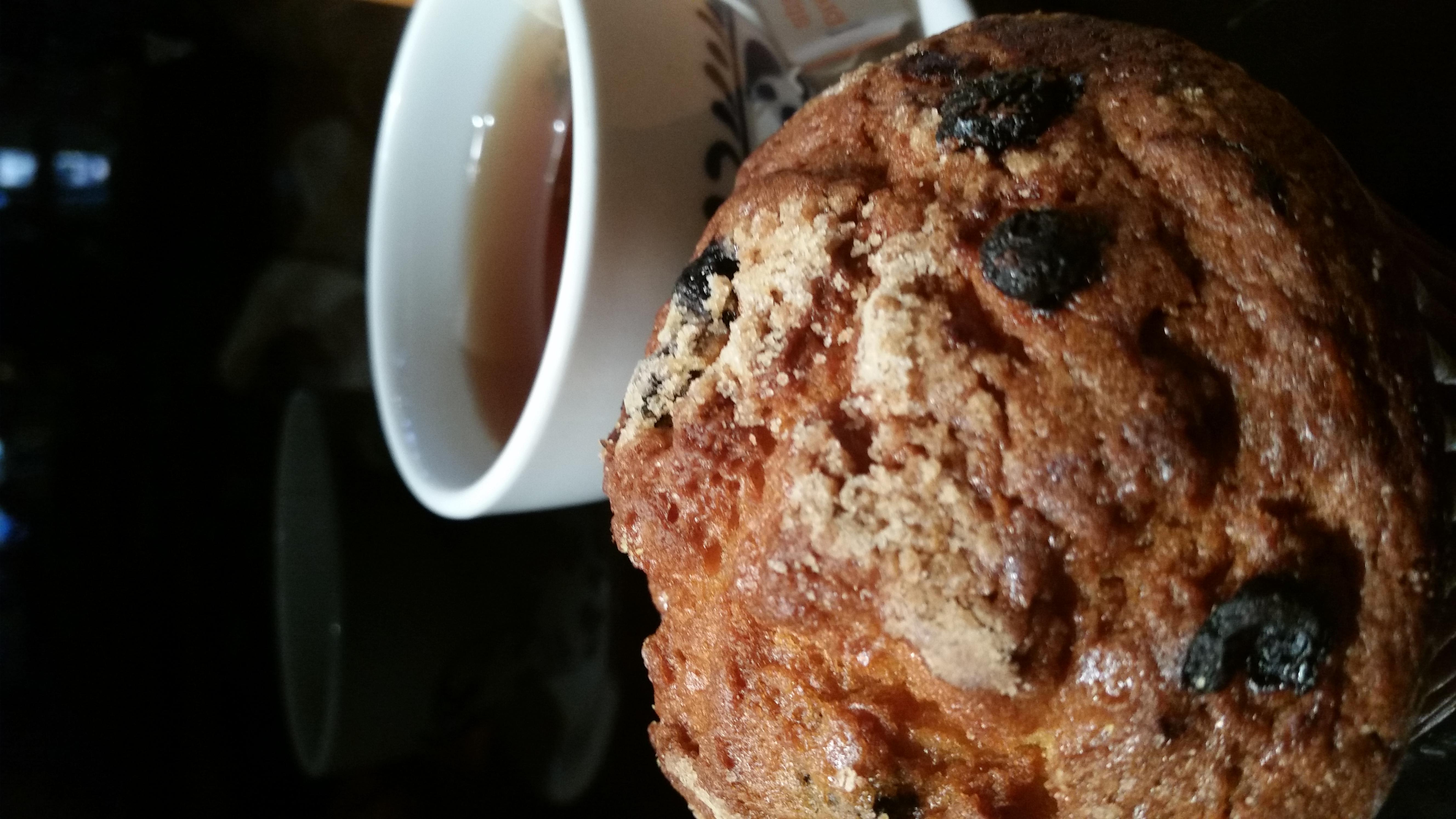 Cup of Tea and Blueberry Muffin at South Street Creamery Cafe