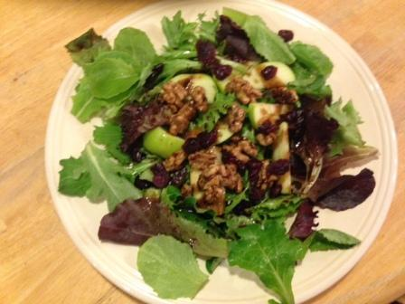 Walnut /apple salad at Yaffa's Savory