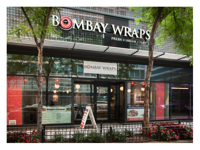 Our newly opened Streeterville location - 330 E Ohio St at Bombay Wraps