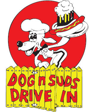 dog at Dog-N Suds Drive In