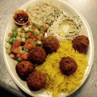 Falafel Plate at Yaffa's Savory