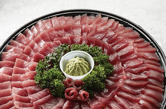Fresh sashimi platters are always great at parties! 24 hours notice recommended. at Nico's at Pier 38