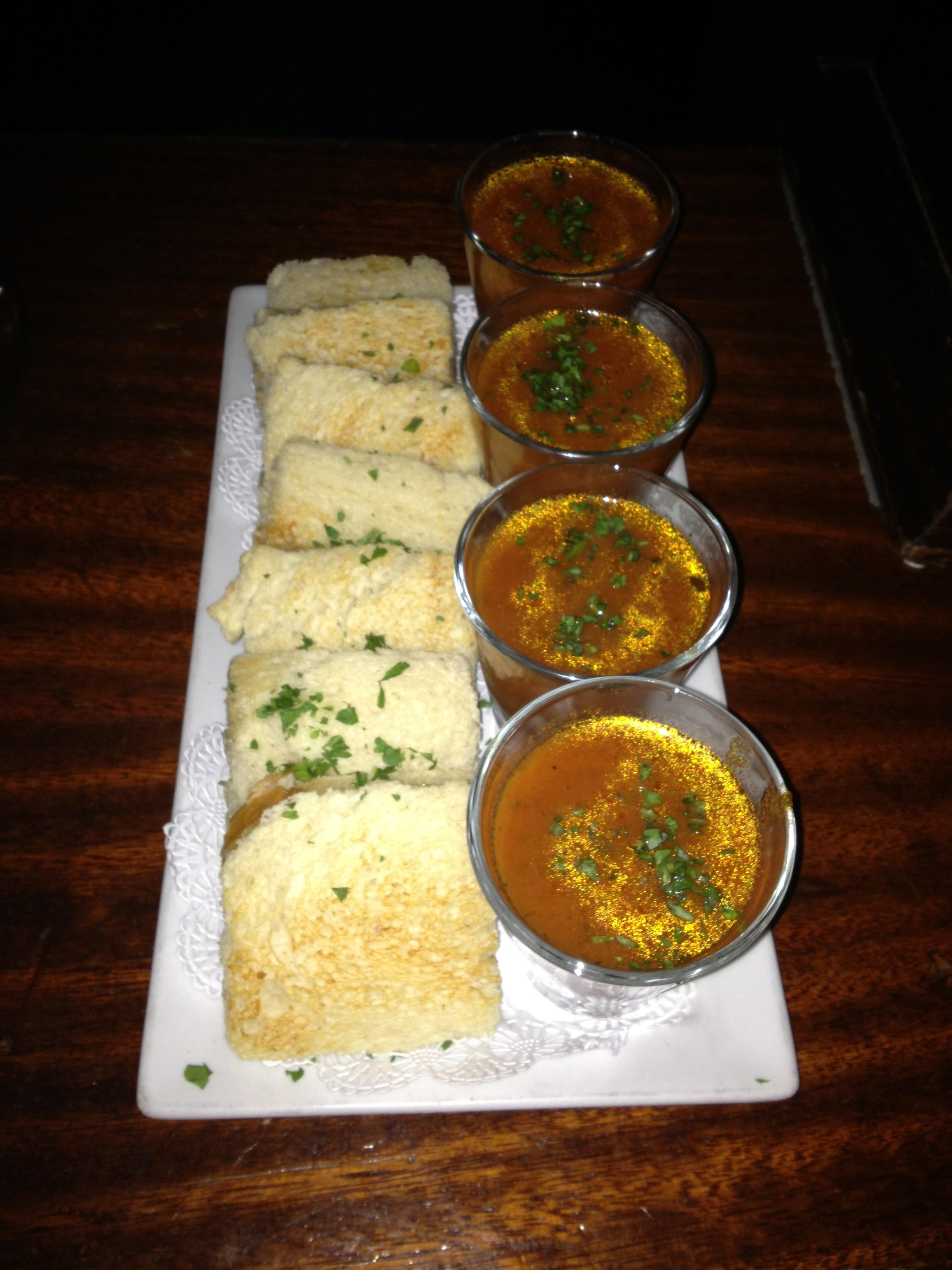 Grilled Cheese + Shot of Tomato Soup at Finn McCool's