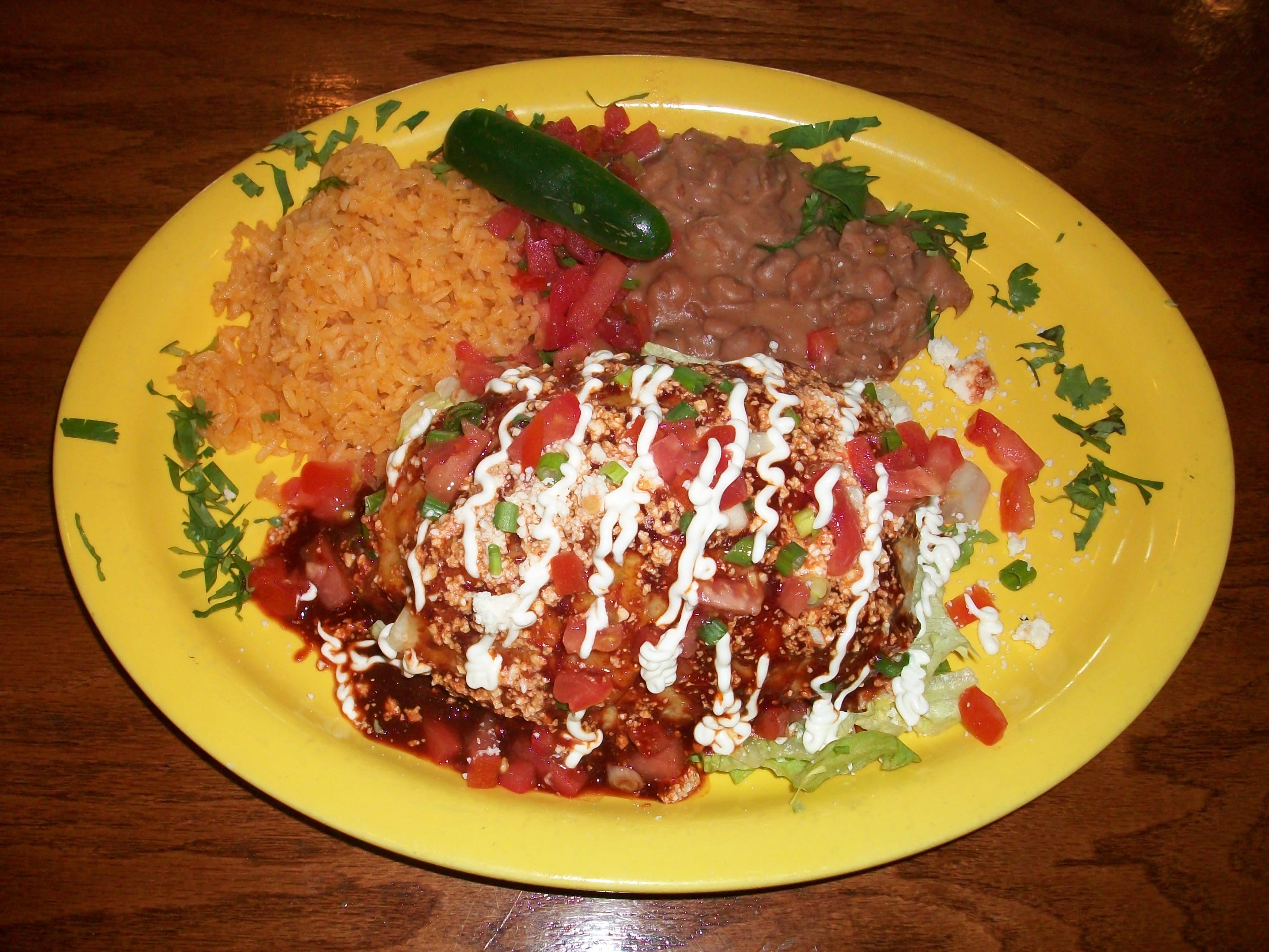 Burrito Enchilado at Margarita's
