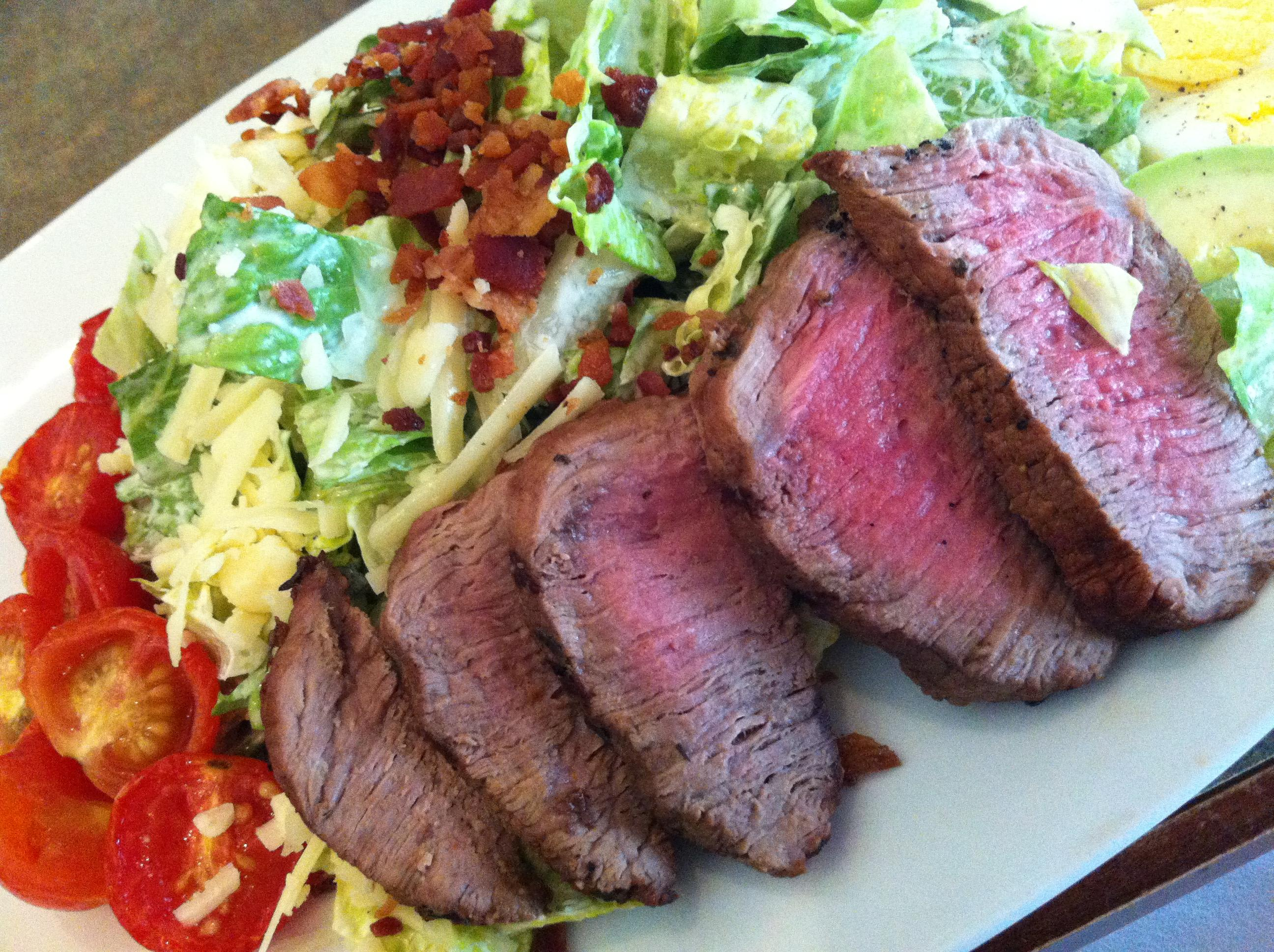Choose from New York Strip or chicken breast at Deep Blue