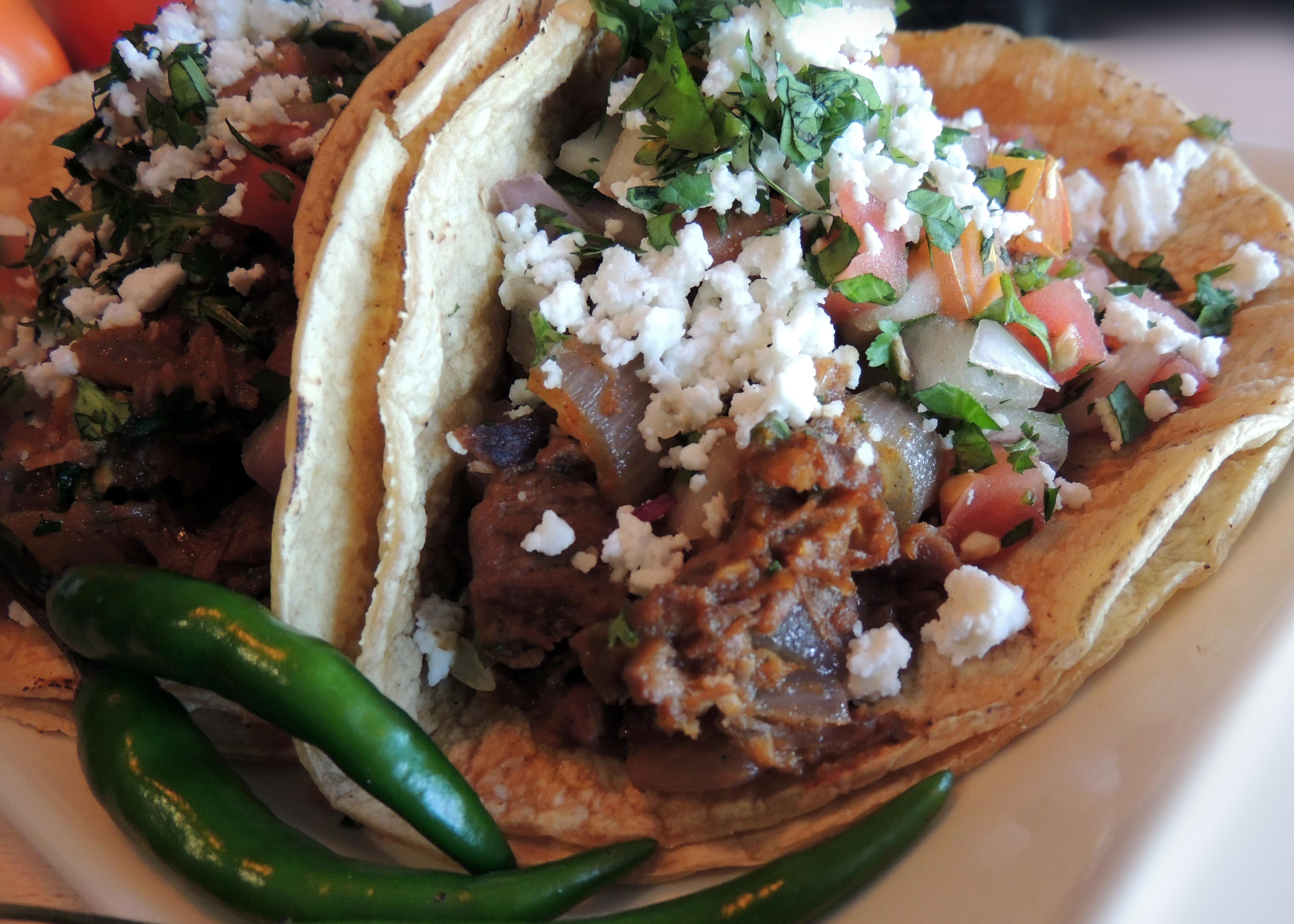 lamb tacos with indian flavor at Kama Indian Bistrot