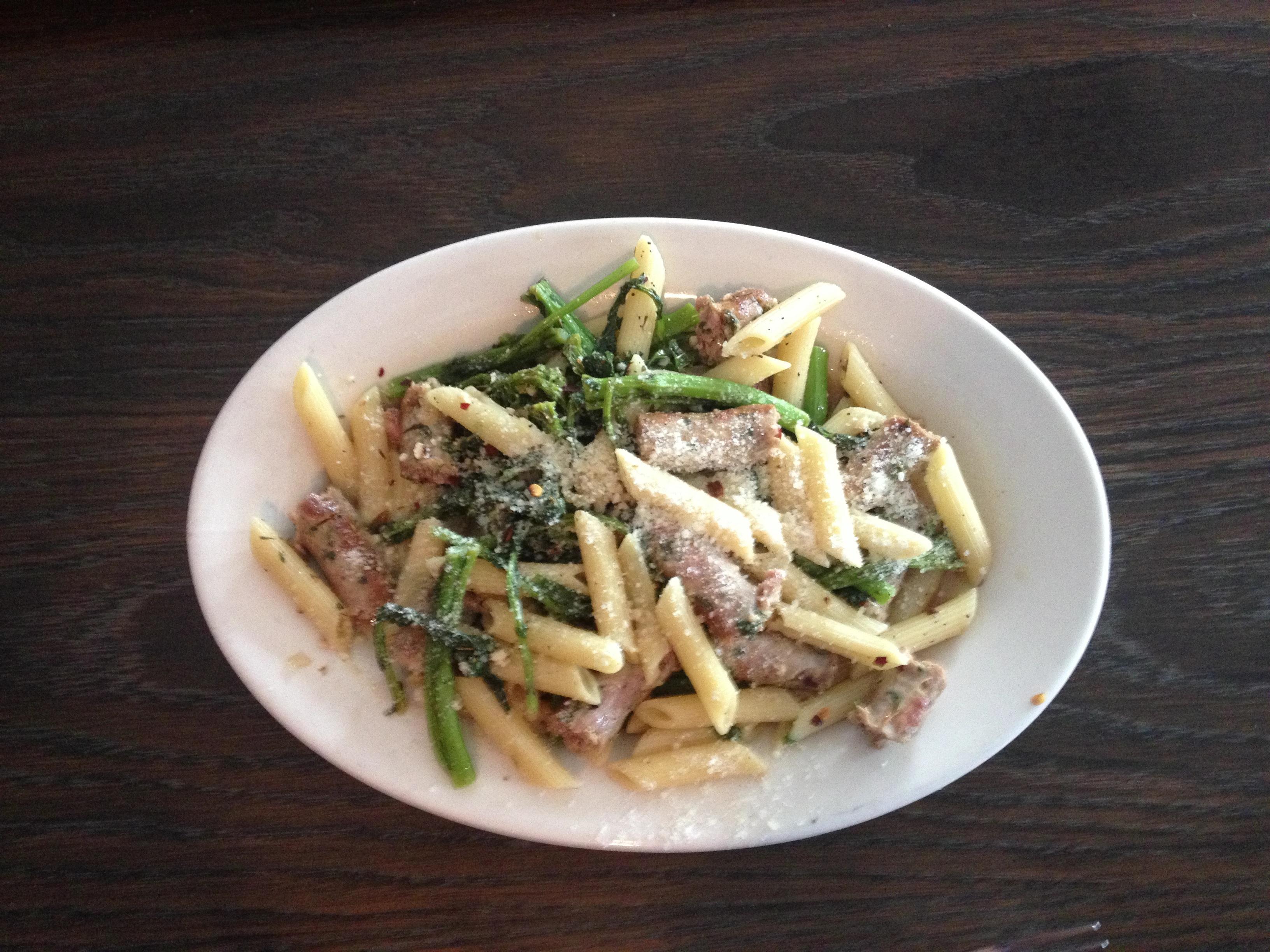 Penne, Broccoli Rabe & Italian Sausage at Brooklyn Pub