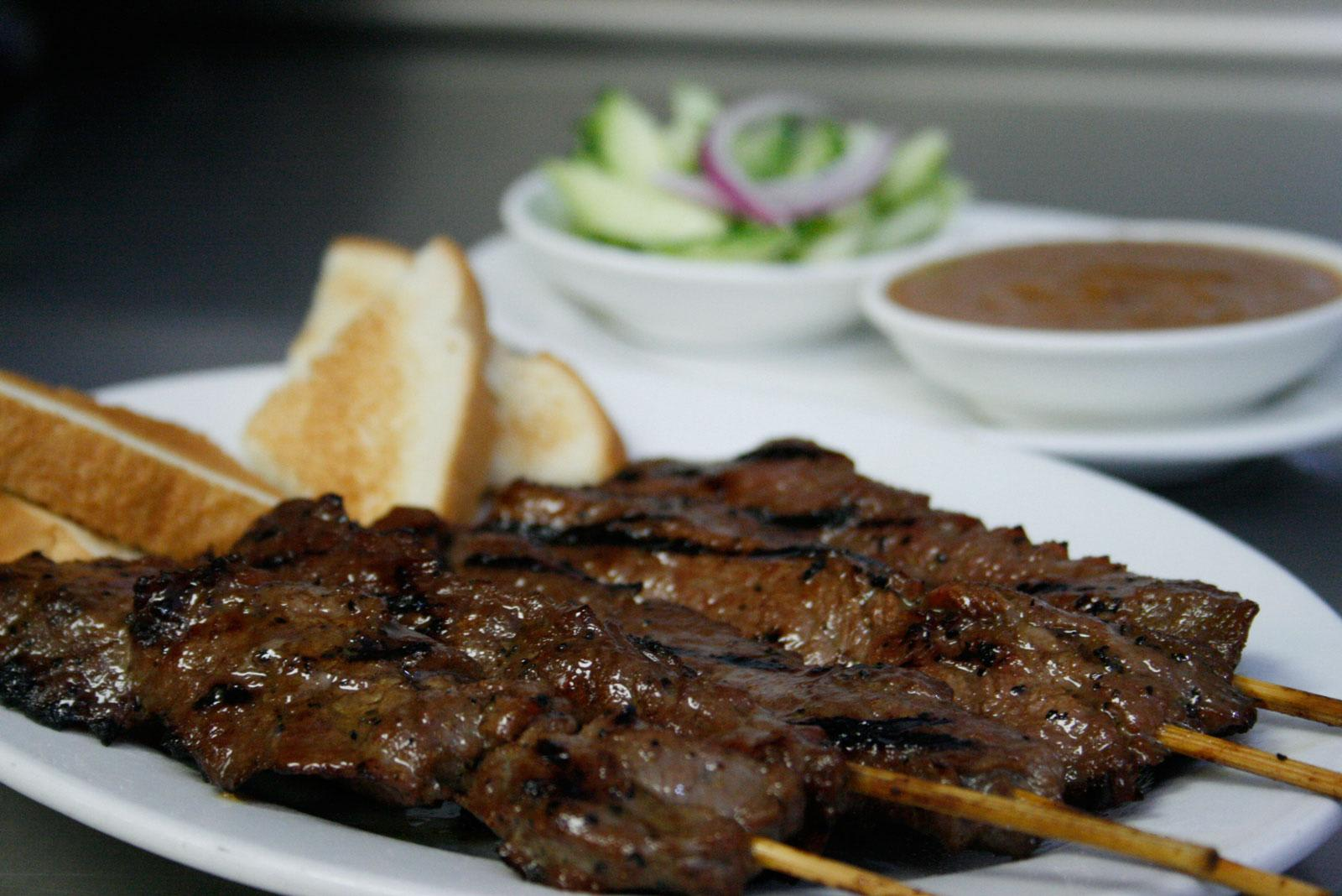 Beef satae satay at Thai restaurant Kung Fu in Las Vegas NV at Kung Fu Thai & Chinese