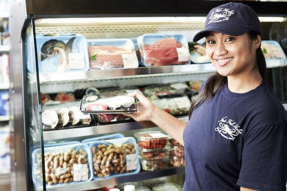 Mariah is happy to help you in anyway you can in our Fish Market department! at Nico's at Pier 38