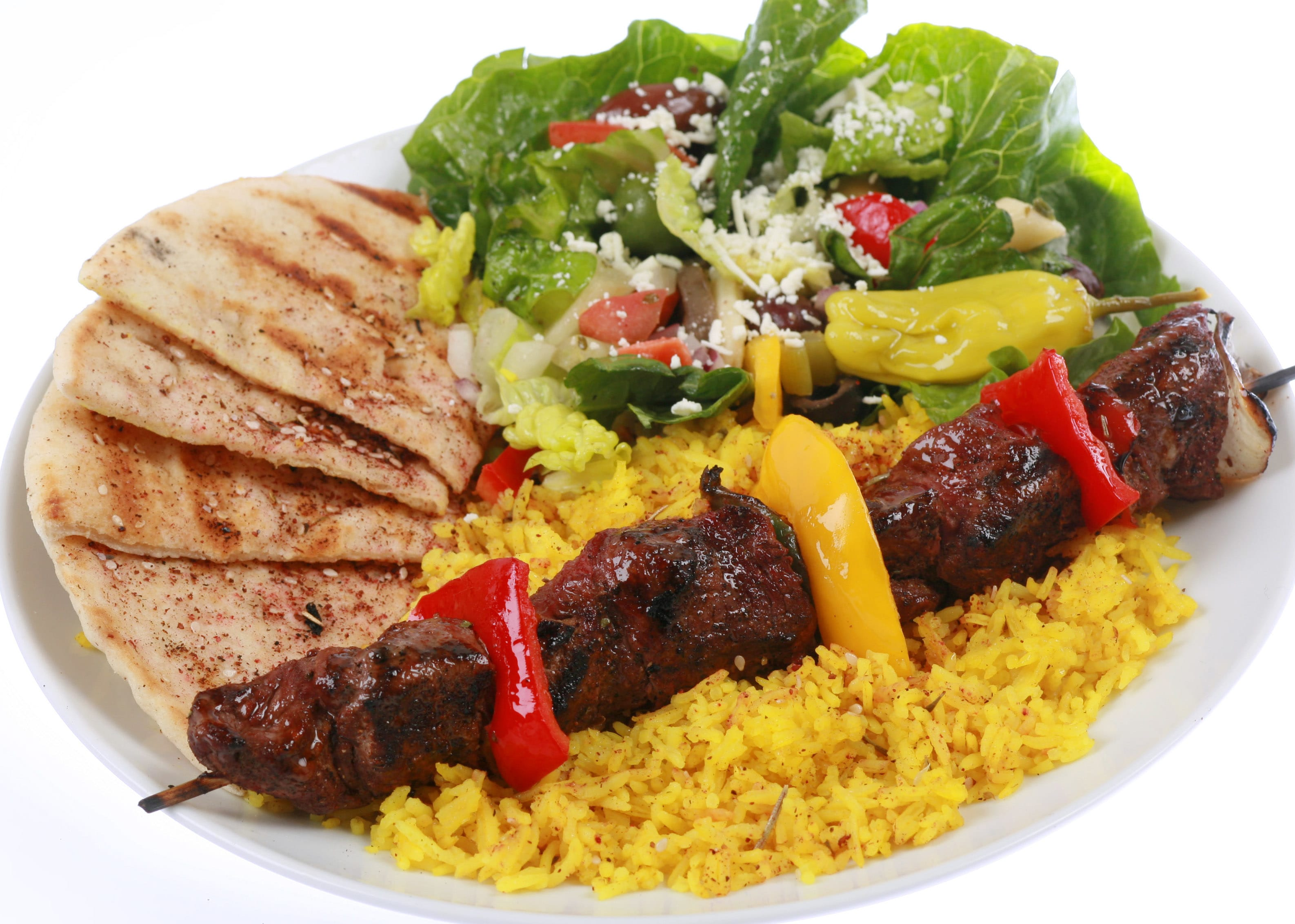 Beef kabob at Mediterranean Cafe
