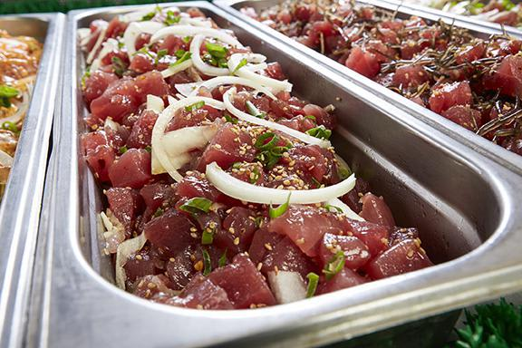 Freshly made poke with the freshest and sustainable fish around. So ono! at Nico's at Pier 38