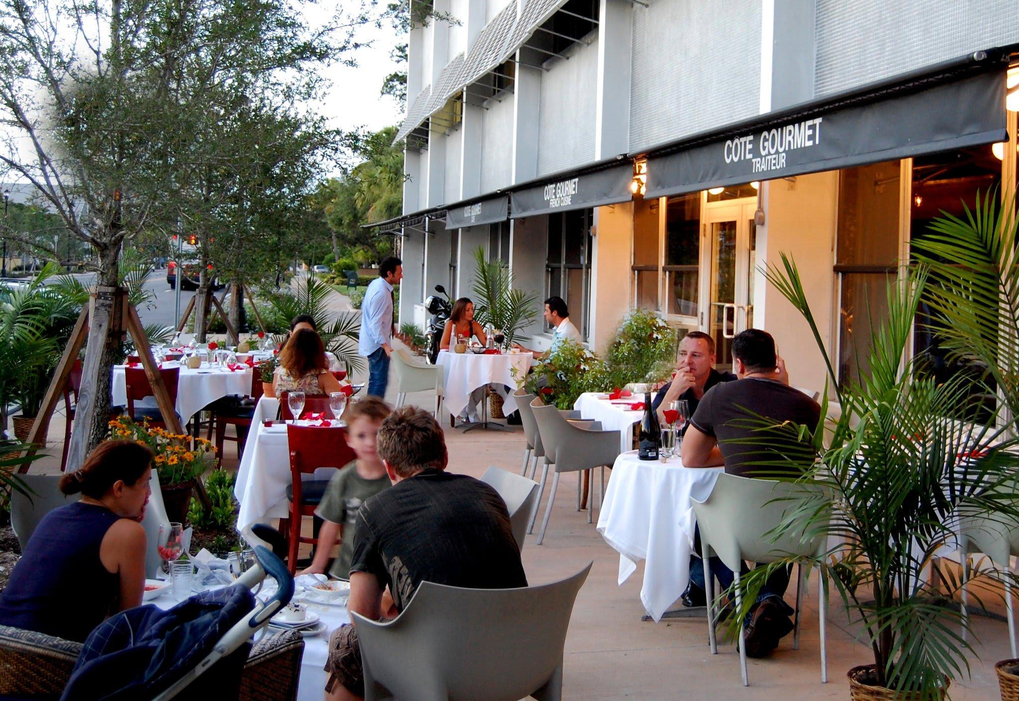 dinning at Cote Gourmet