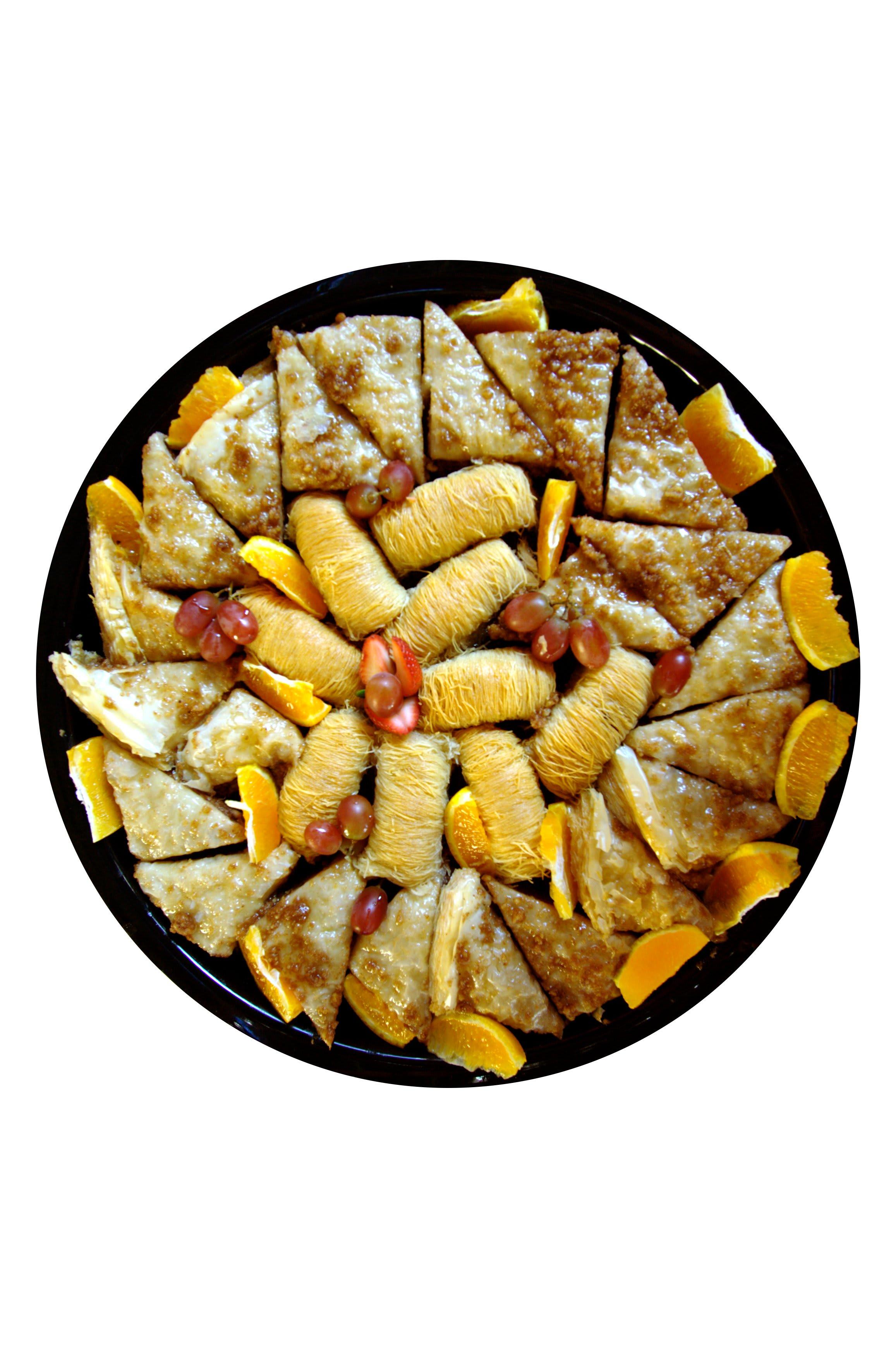 Dessert tray at Mediterranean Cafe