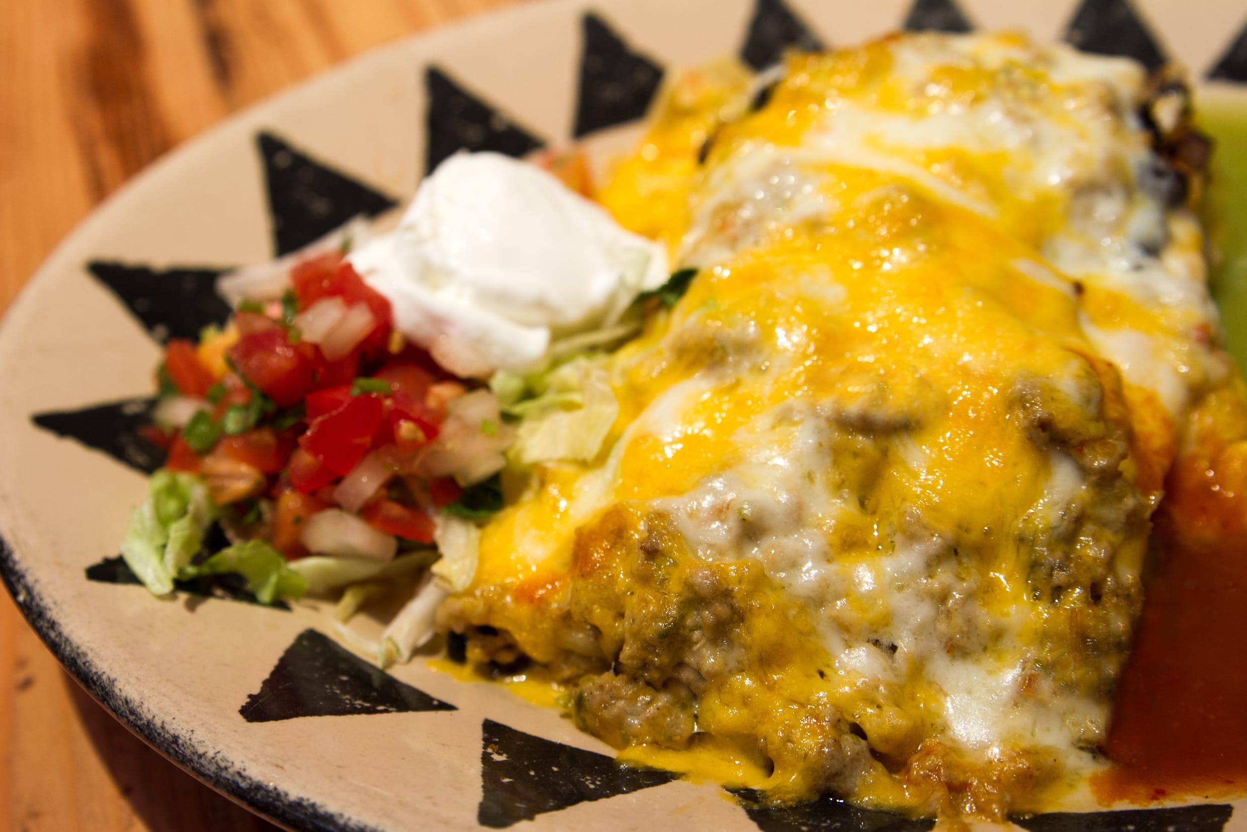 Mexican Lasagna at Coyote Cantina