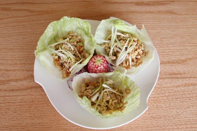Chicken Lettuce Roll at Good Fortune