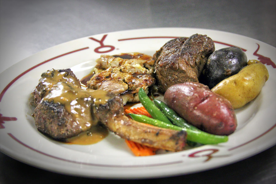 Wild Game Mixed Grill at Y.O. Ranch Steakhouse