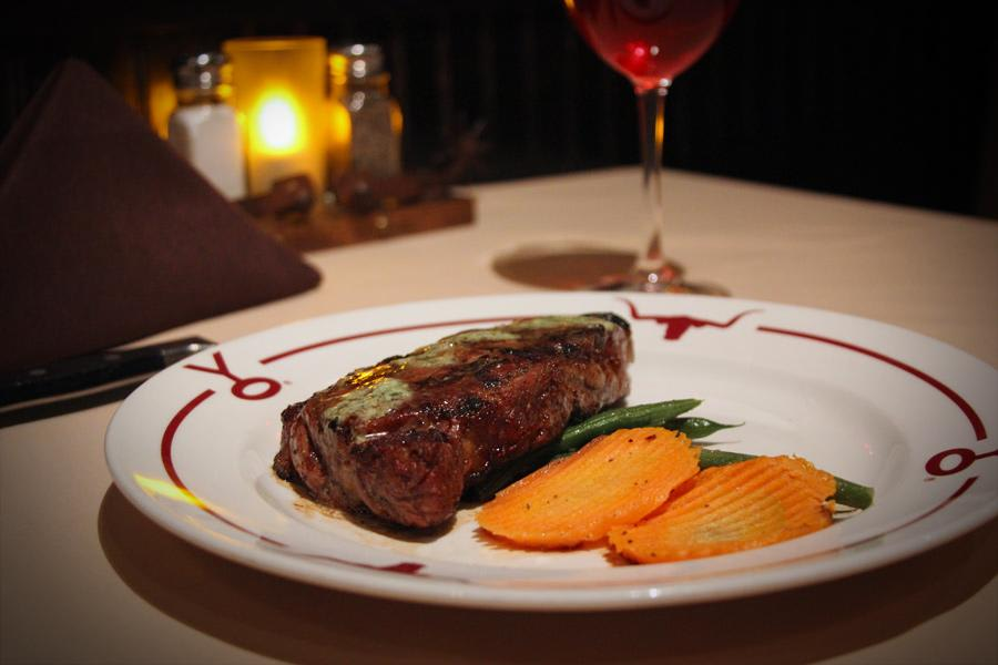 Dry Aged New York Strip at Y.O. Ranch Steakhouse