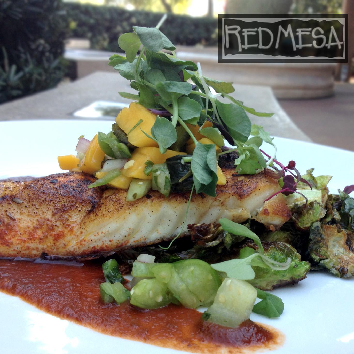 Grilled Dorado a la Plancha at Red Mesa