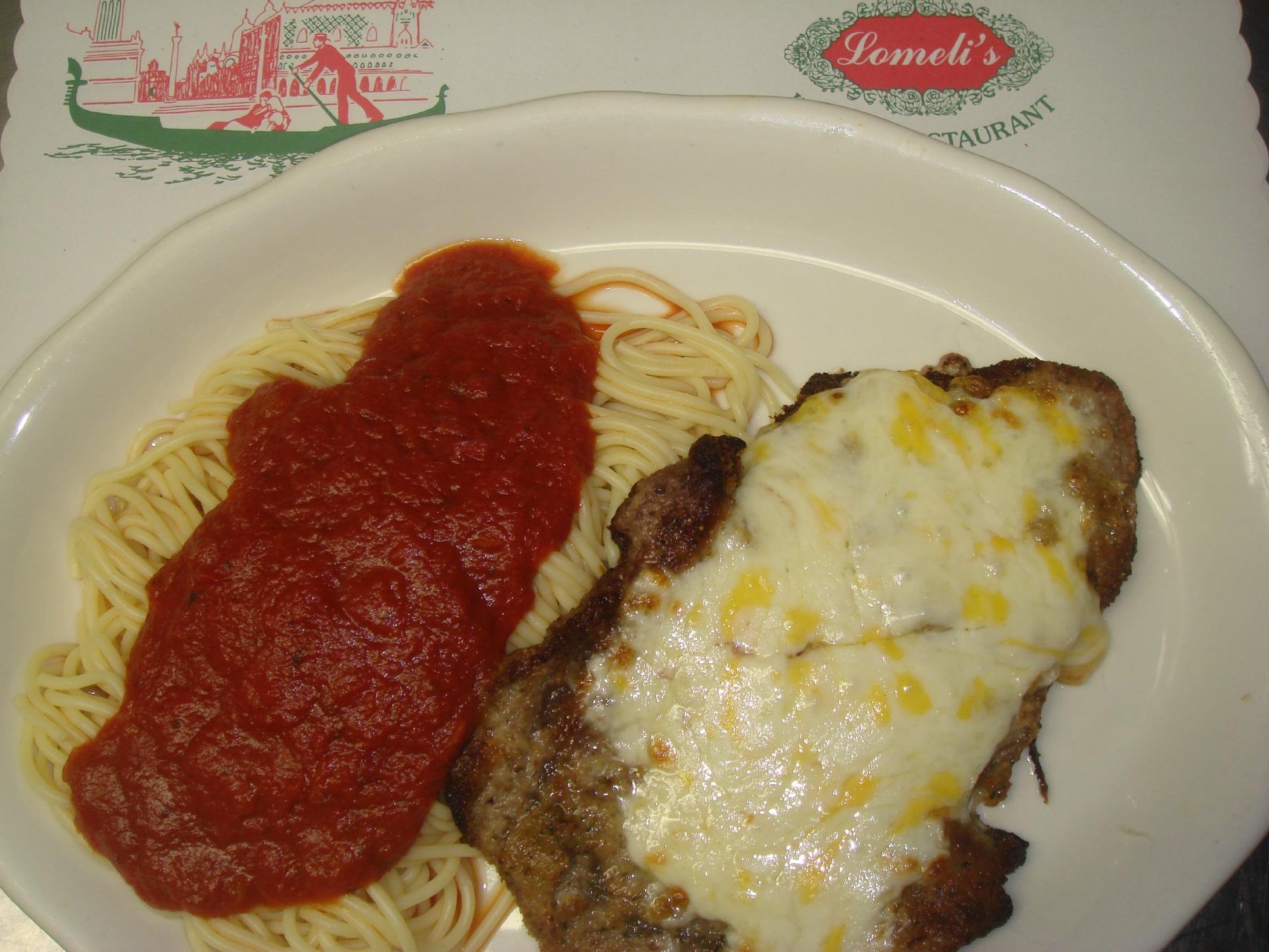 Breaded Cutlet at Lomelis Italian Restaurant