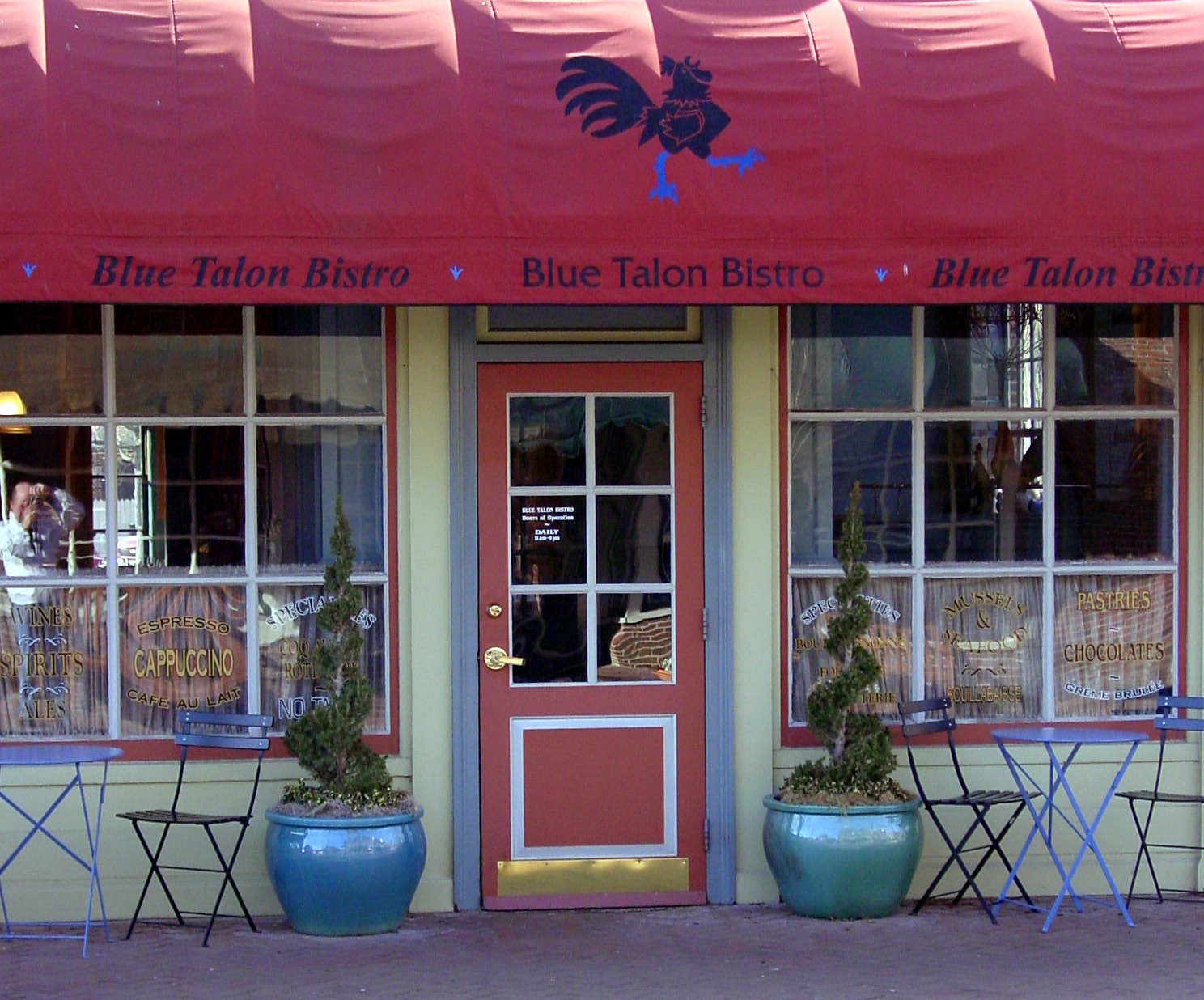 Front of Bistro at Blue Talon Bistro