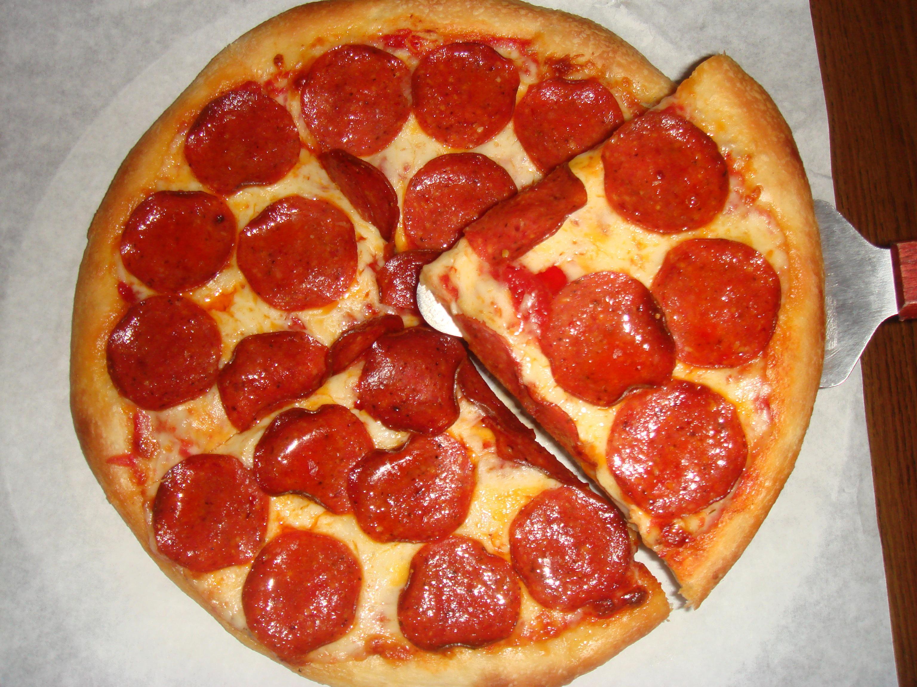Pepperoni Pizza at Lomelis Italian Restaurant