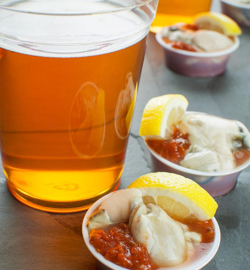 Celebrate Thirsty Thursday Monger Style with 2 for $1 Oyster Shooters and Drink Specials! at Fisherman's Market