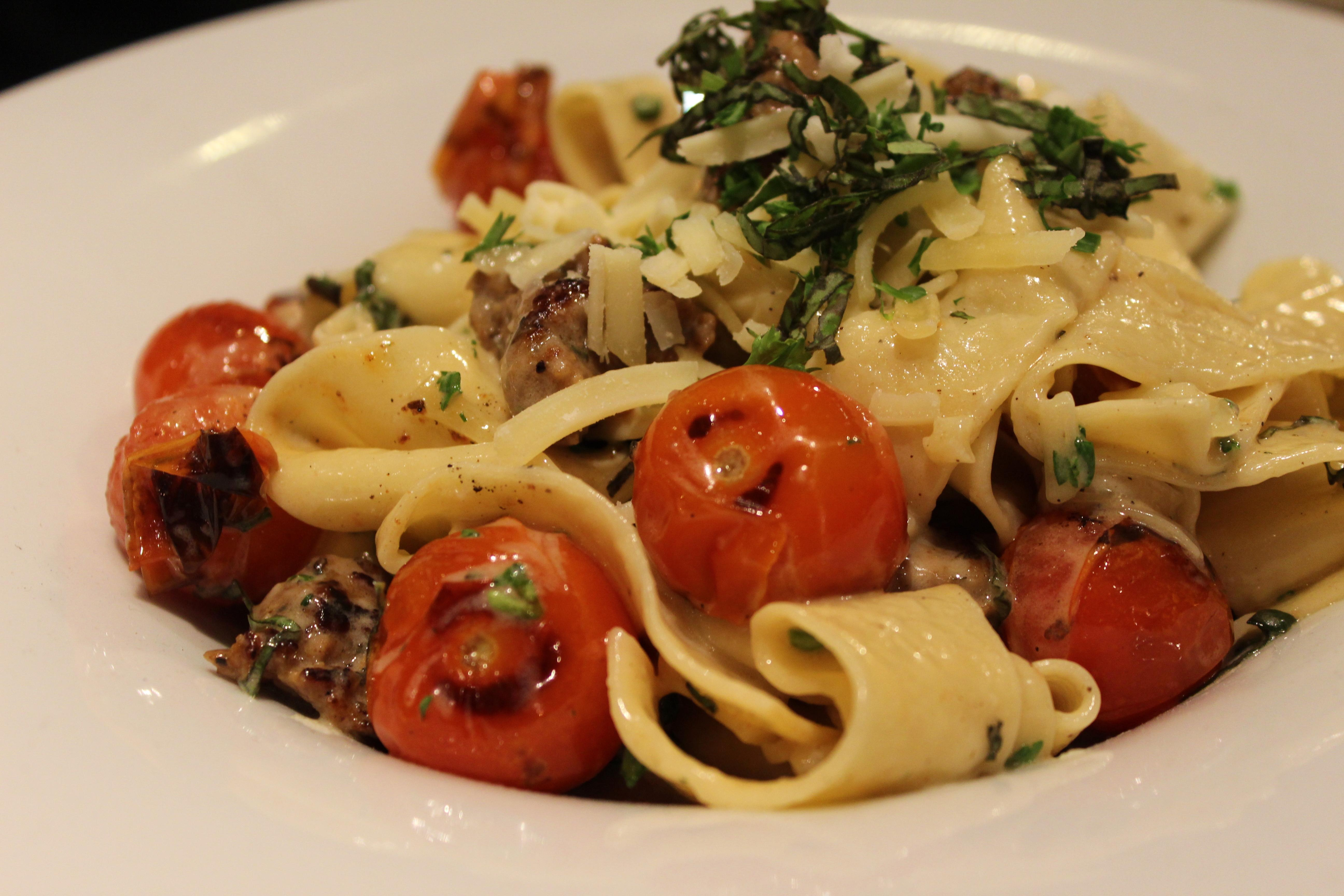 There is nothing better then fresh pasta...well maybe house-made sausage atop that fresh pasta. at Zona 78