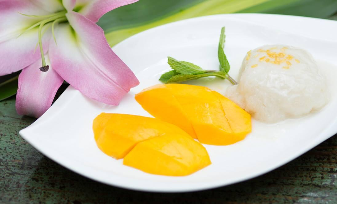 Mango Sticky rice at Thai House Express