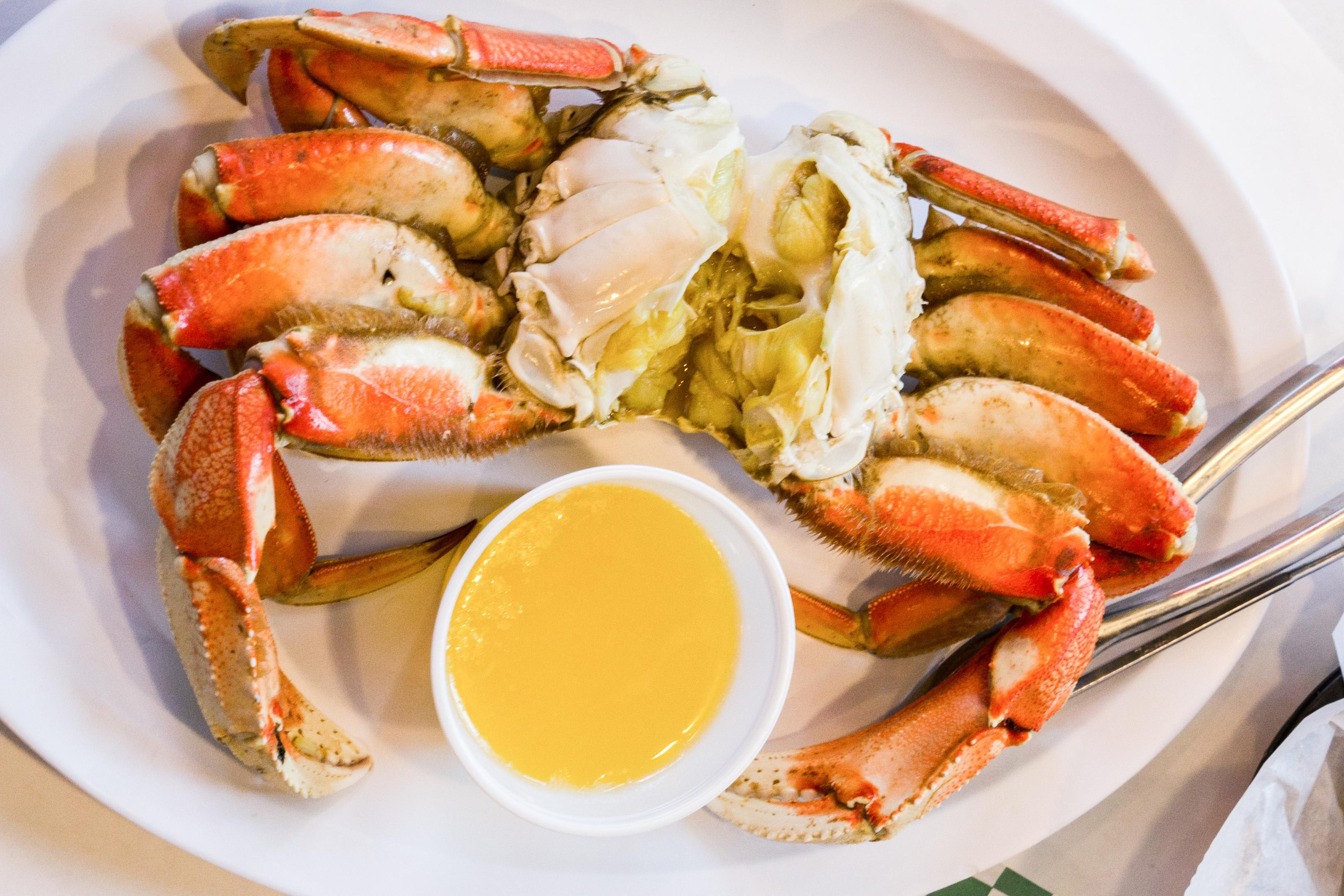 Dungeness Crab—cooked or live! at Fisherman's Market