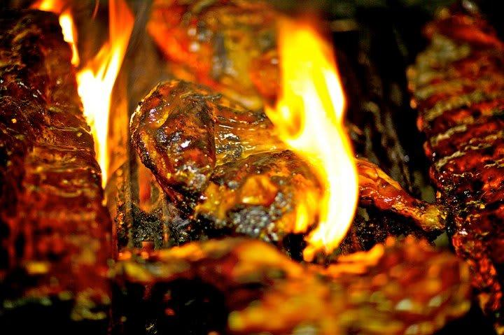 food at Britt's BBQ