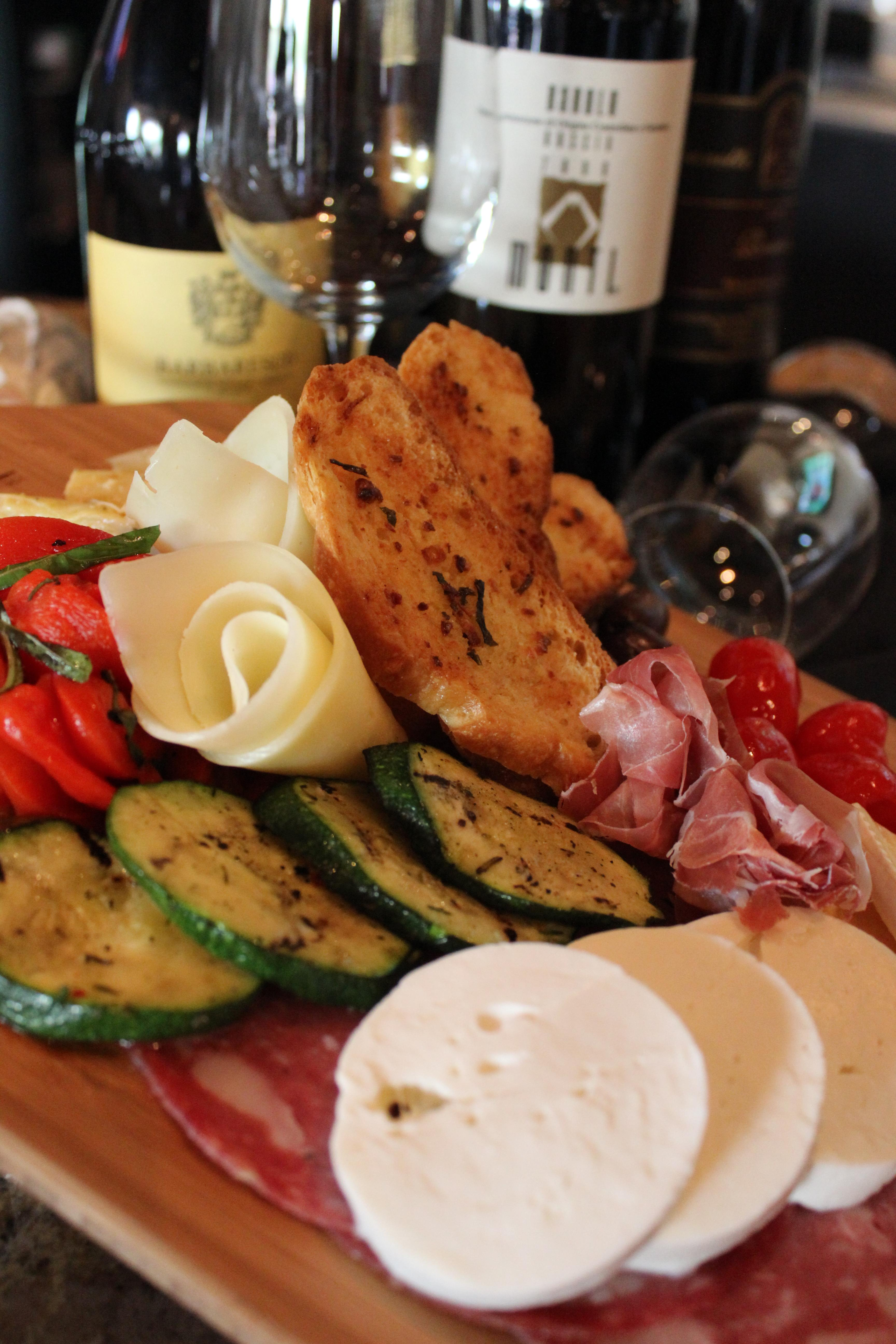 House Cured Meats, Cheeses, and Vegetables at Zona 78