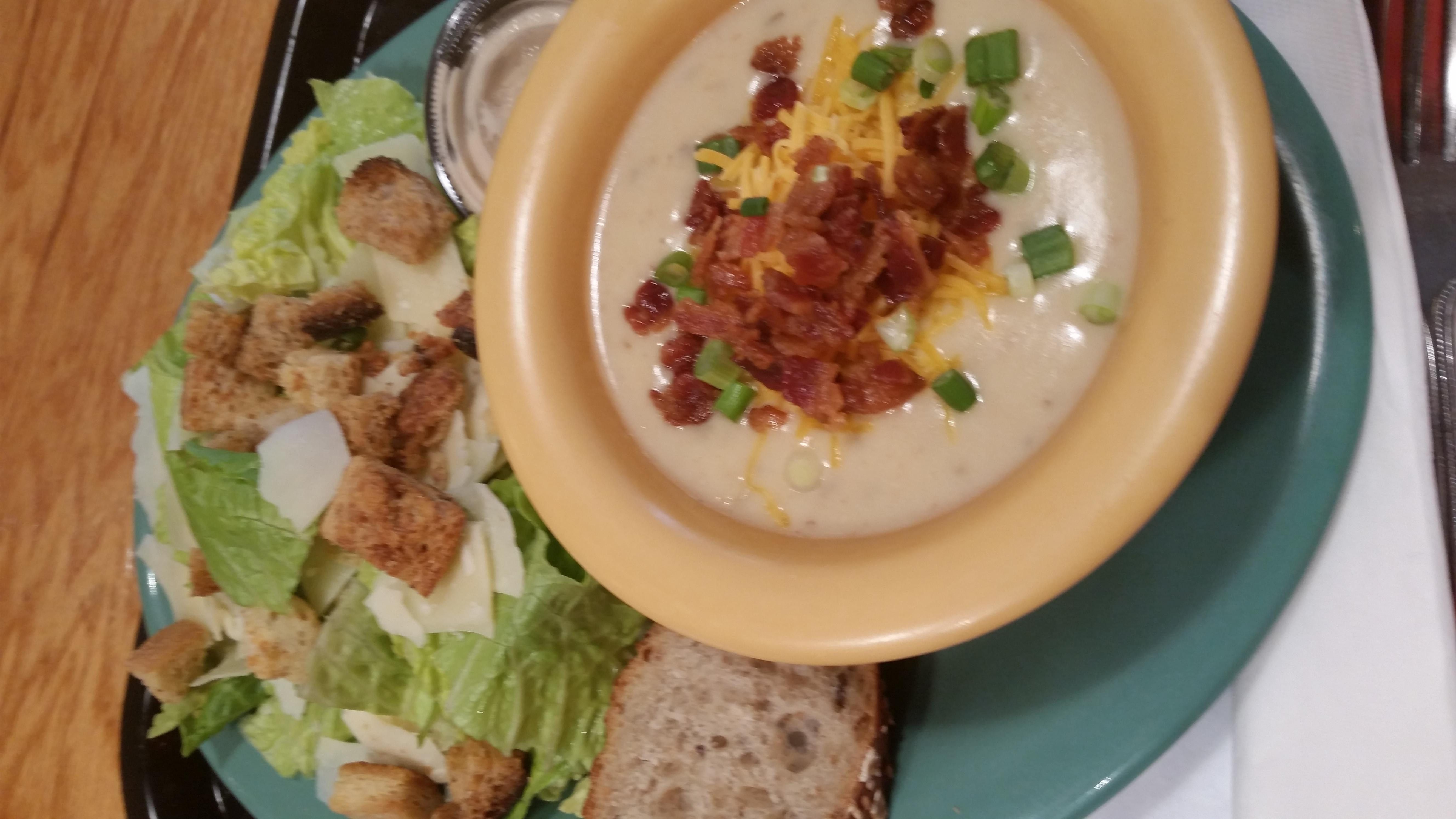 Baked Potato Soup and Caesar Salad Combo at South Street Creamery Cafe