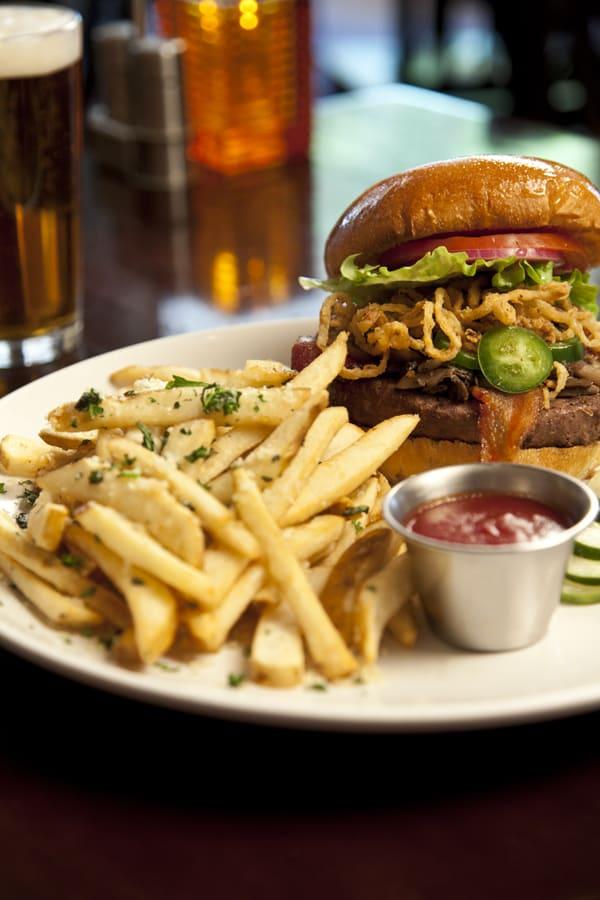 Burger at Appaloosa Grill