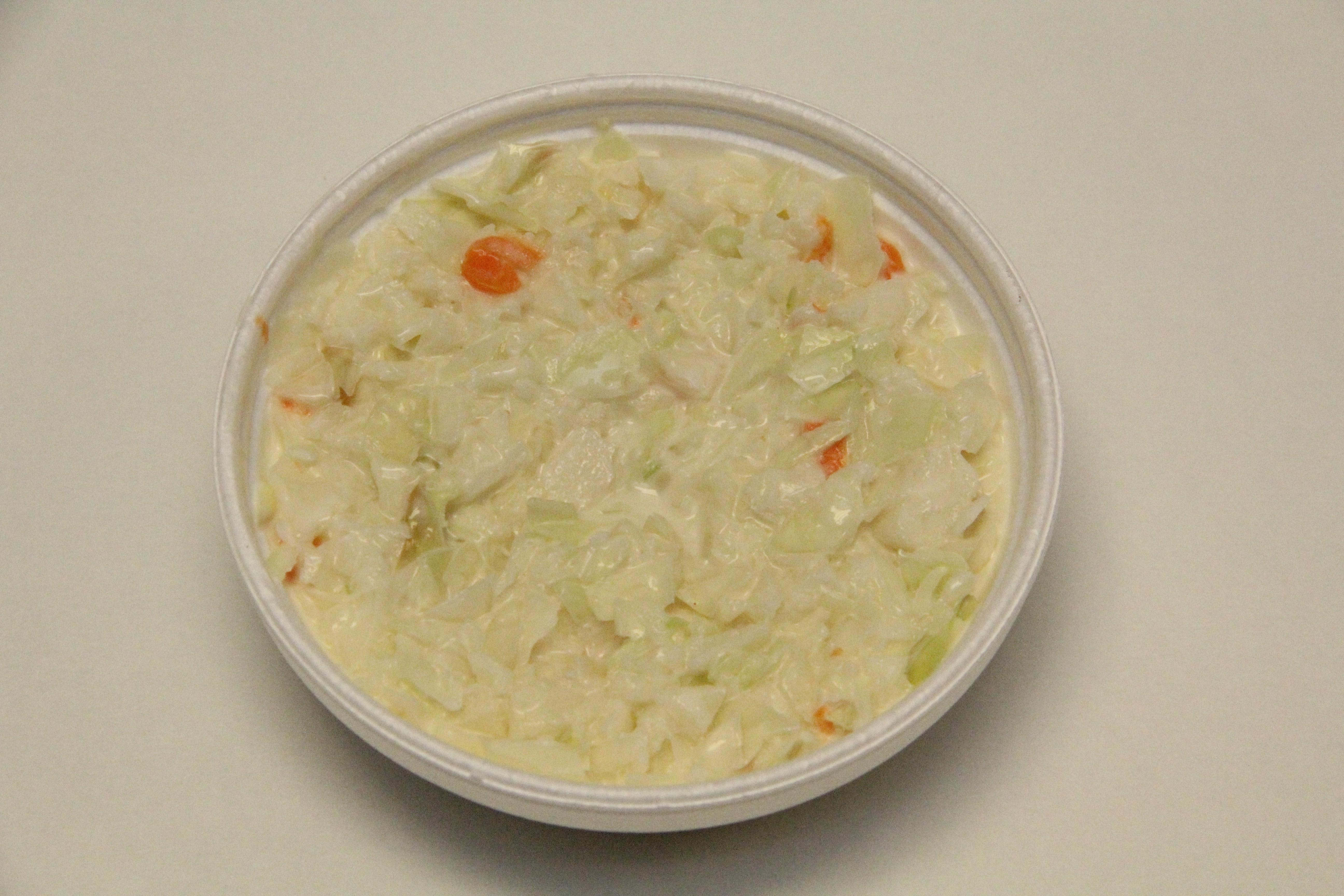 A small Cole Slaw homemade at Squabs Gyros