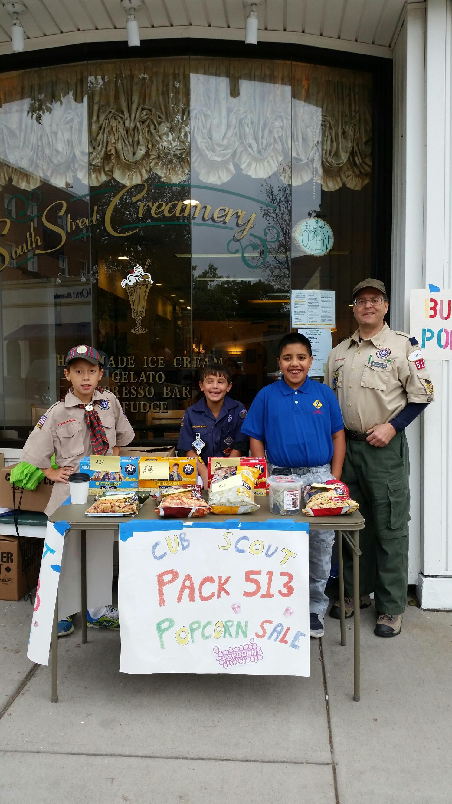 Boy Scouts at South Street Creamery Cafe