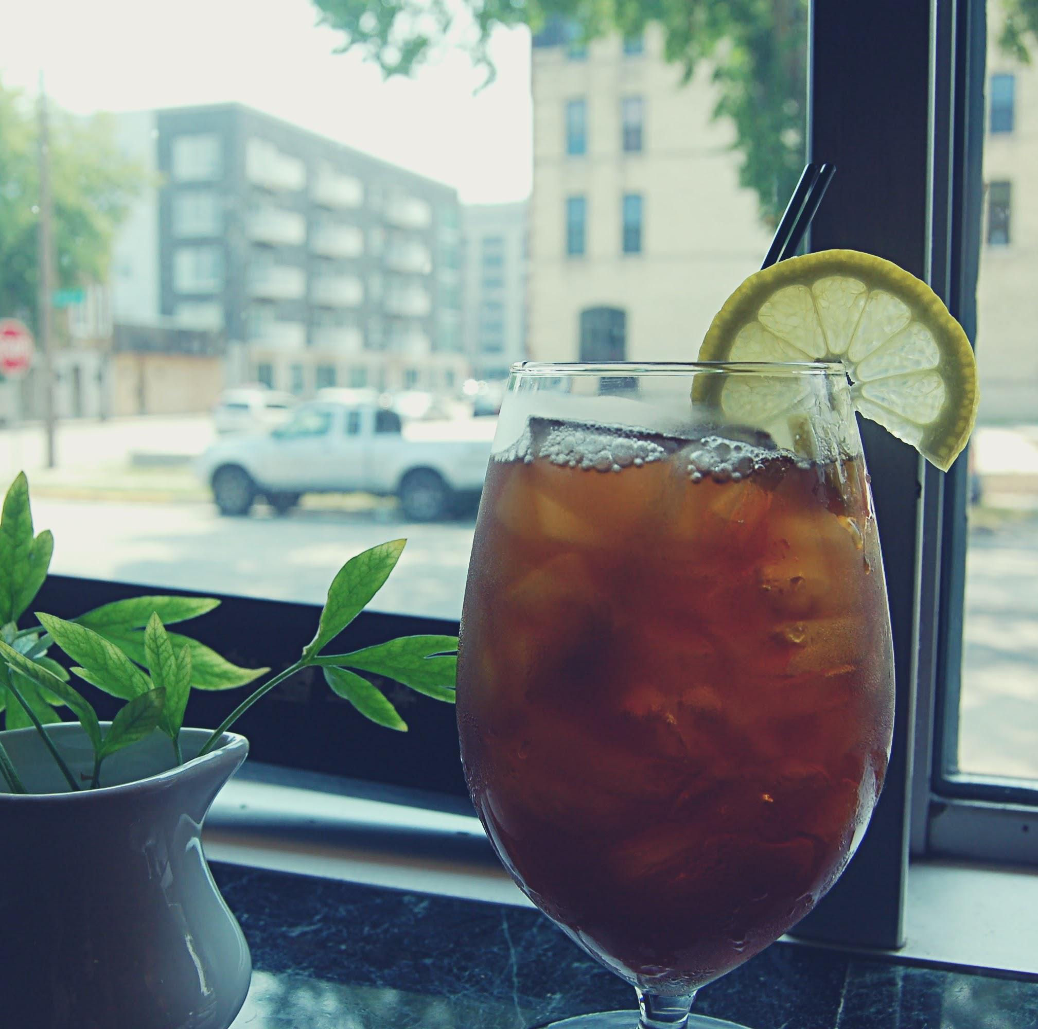 We make our iced tea fresh in house and proudly use local Rishi tea at Meraki