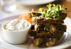 Portobello Mushroom Fries at Sauce: Belden Place
