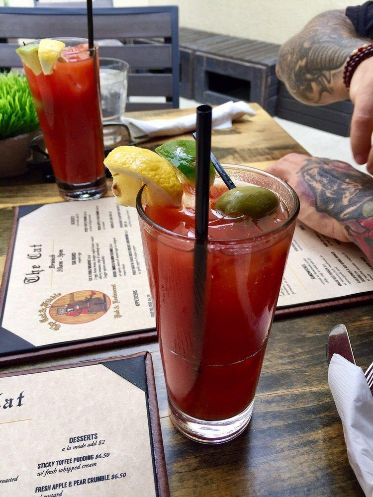 We serve $6 Bloody Mary's for Brunch on Saturday and Sunday! at Cat N Fiddle