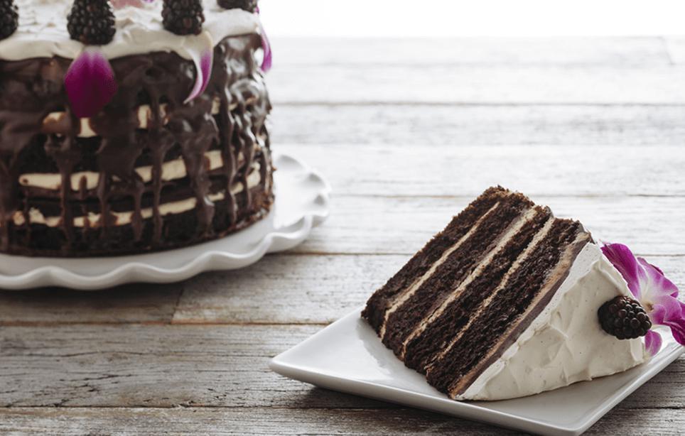 Chocolate Vanilla Layer Cake