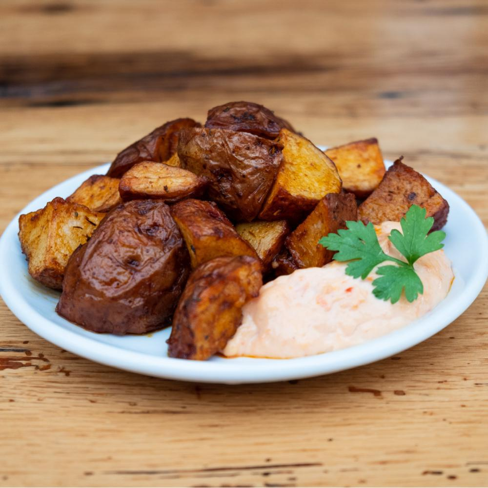 Spicy Potatoes with Tomato Aioli