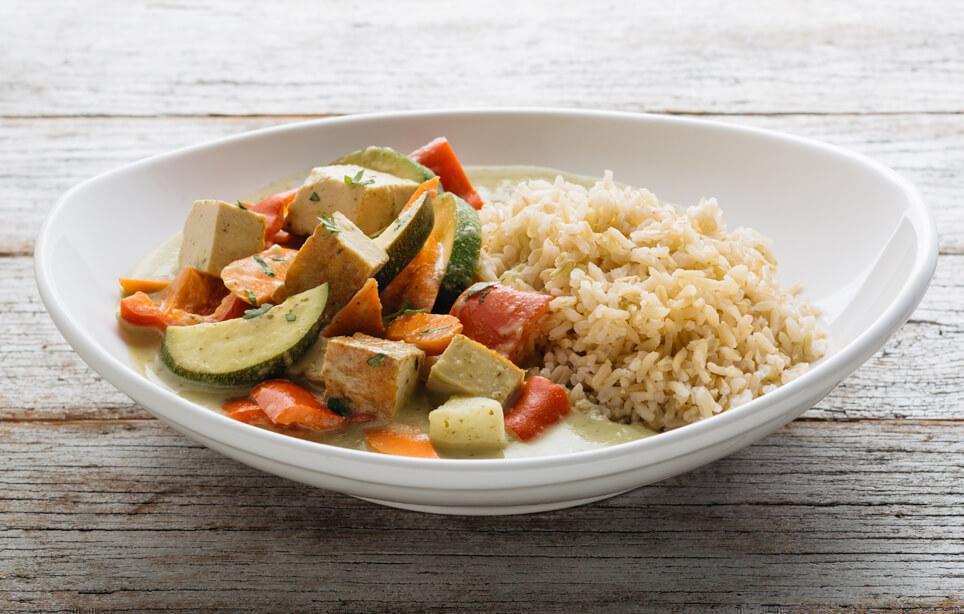 Curry Tofu & Vegetable Braise
