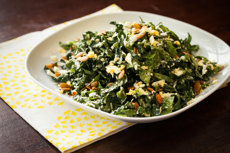 Tuscan Kale & Spinach Salad